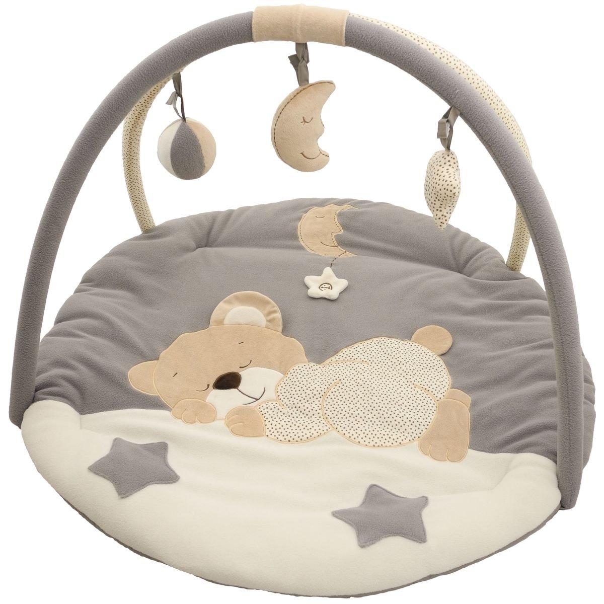 Baby Krabbeldecke/Spieldecke mit Spielbogen (Schlafendes Bärchen) Stimo24