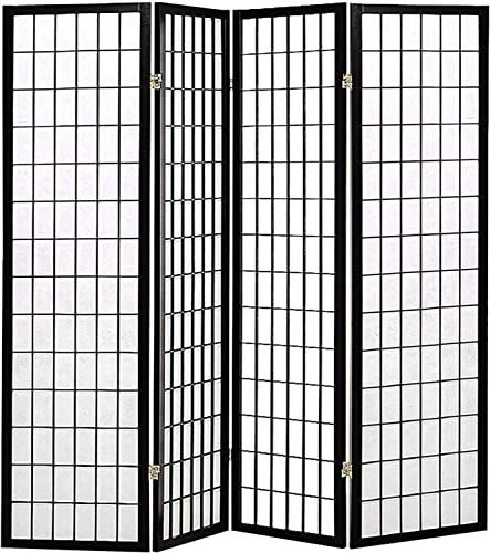 Room Divider 4 Panel Folding Privacy Screen 70Inches High 17Inches Wide Room Divider