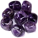 Bingcute Brazilian Tumbled Polished Natural Amethyst Stones 1/2 Ib for Wicca, Reiki, and Energy Crystal Healing…