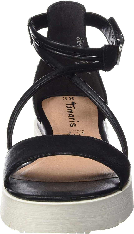 Tamaris 1 1 28030 32 003, Sandales Plateforme Femme, Noir