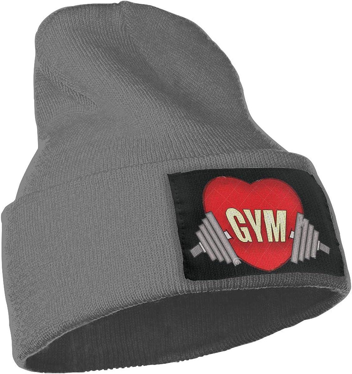 SLADDD1 Gym Heart Warm Winter Hat Knit Beanie Skull Cap Cuff Beanie Hat Winter Hats for Men /& Women