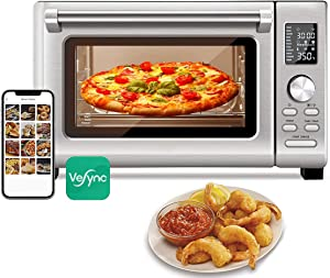 25L Air Fryer Toaster Oven Combo, 11-in-1 Airfryer Toaster Oven Smart control with Alexa (Silver)