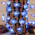 Chanukah Decorative Lights, Impress Life Menorah String Lights 10 ft Copper Wire 40 LEDs New Battery-Powered for Jewish Hanukkah, Wedding, Parties, Bedroom Decorations with Dimmable Remote & Timer