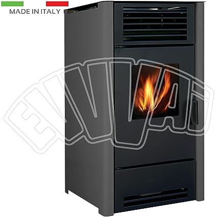 9 KW – Calefactor Antracita – Estufa de pellets para calefacción casa Fuego Cálido