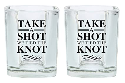 Wedding Shot Glasses.Amazon Com Wedding Shot Glasses Take A Shot We Tied The