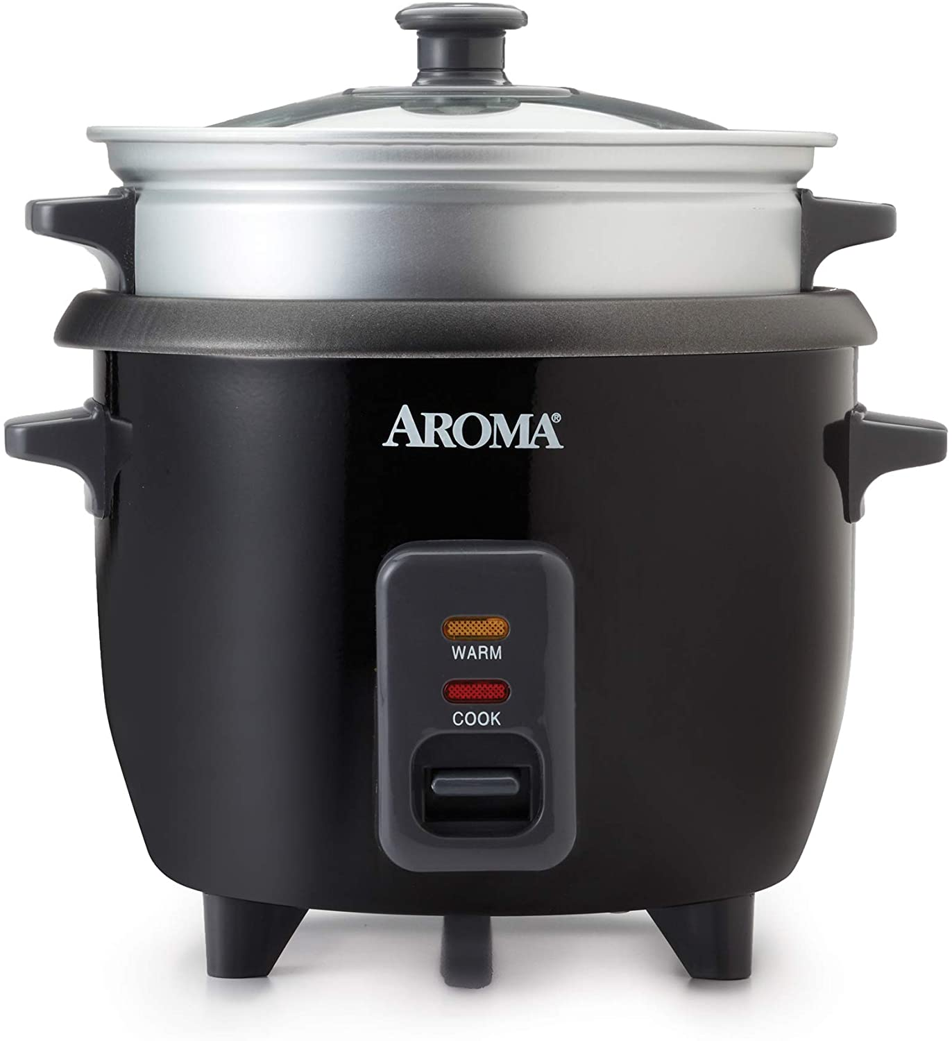 Aroma Housewares ARC-363-1NGB 3 Uncooked/6 Cups Cooked Rice Cooker, Steamer, Multicooker, 2-6, Silver