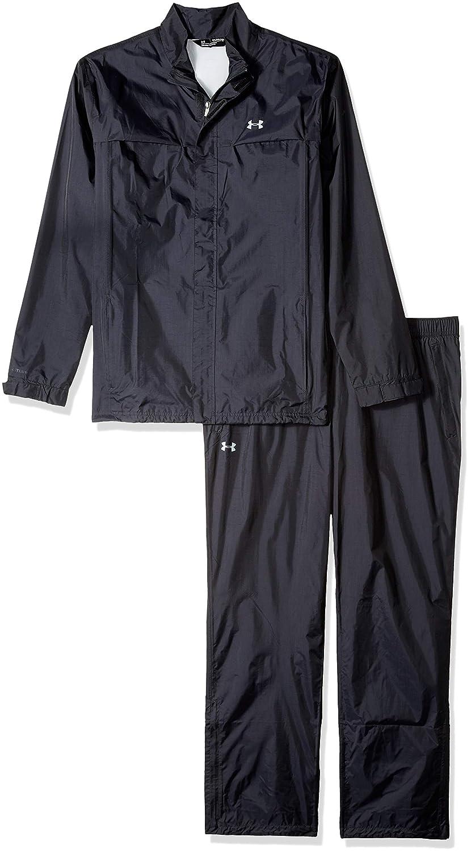 (アンダーアーマー)UNDER ARMOUR ストームレインスーツ(ゴルフ/レインウェア/上下セット/MEN)[1259439] 日本 MD-(日本サイズM相当) BLACK/STEEL/STEEL B00Q8IQUUC
