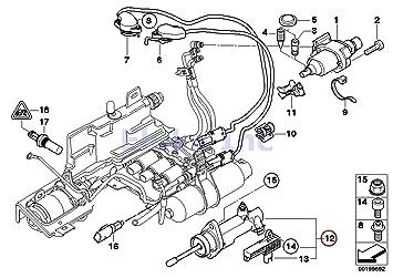 BMW auténtica SMG actuador Sensoren para cilindro receptor del embrague con sensor de posición 325 Ci 325i 330 Ci 330i 525i 530i Z4 2.5i Z4 3.0I: Amazon.es: ...