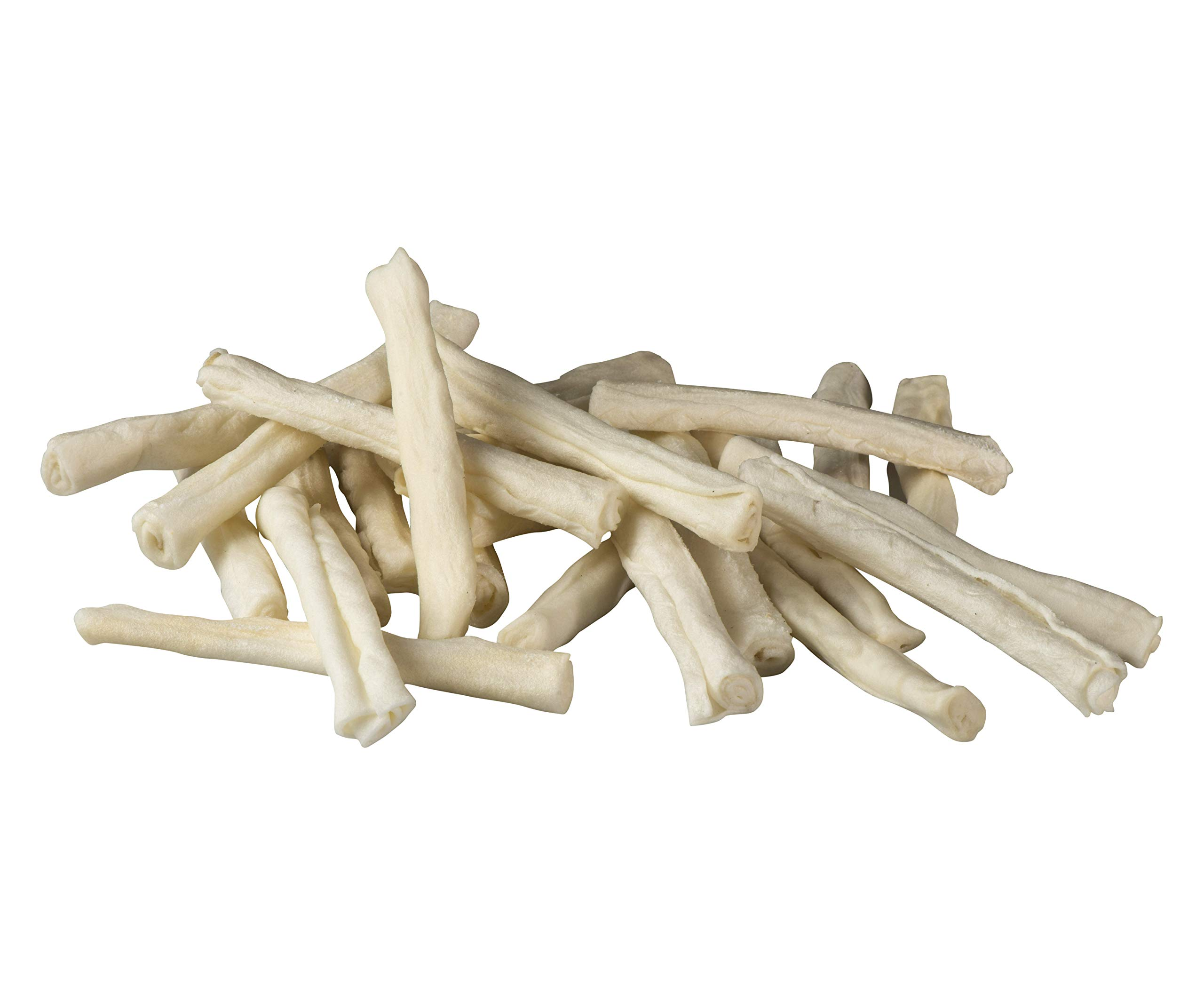 TheLittleThingsThatCount Natural Rawhide Retriever Rolls Chews Small to Medium Dogs Re-sealable Bag - 16/24pcs (24pc)