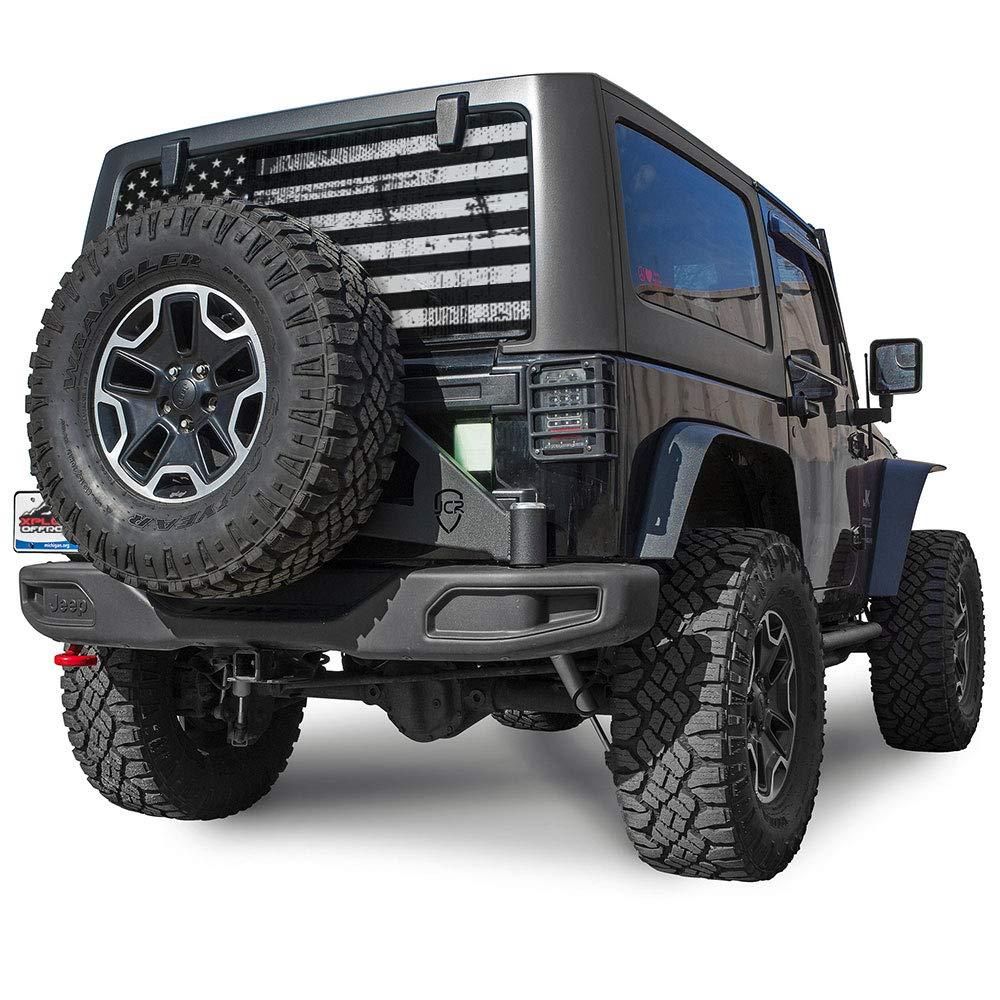 XPJLRR American Eagle XPLORE OFFROAD Jeep Wrangler American Flag Rear Window Decal
