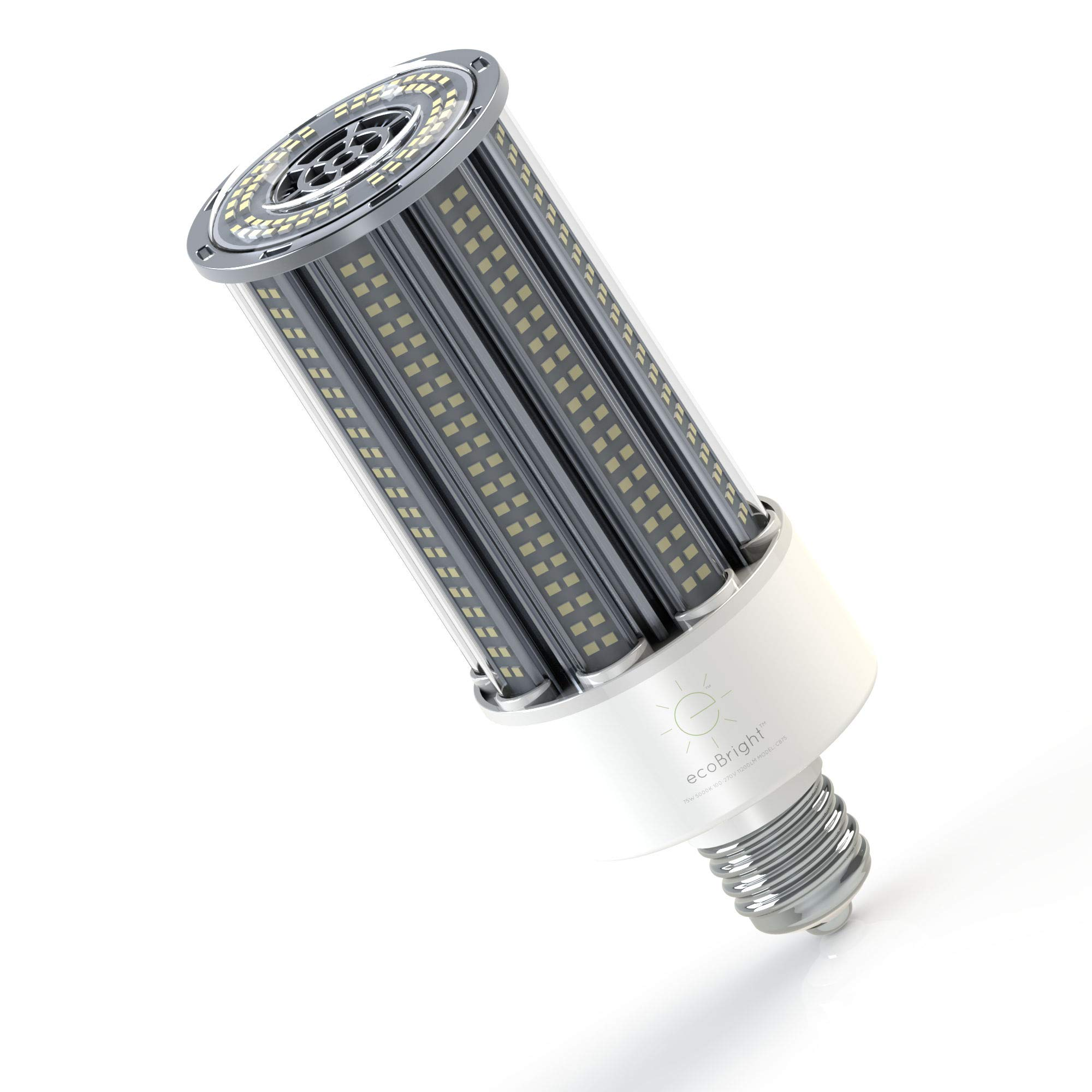 ecoBright LED Corn Bulb 54W (5000K 8100LM E39/E40 Mogul), 350W Replacement, street lighthing, area lighting. by ecoBright