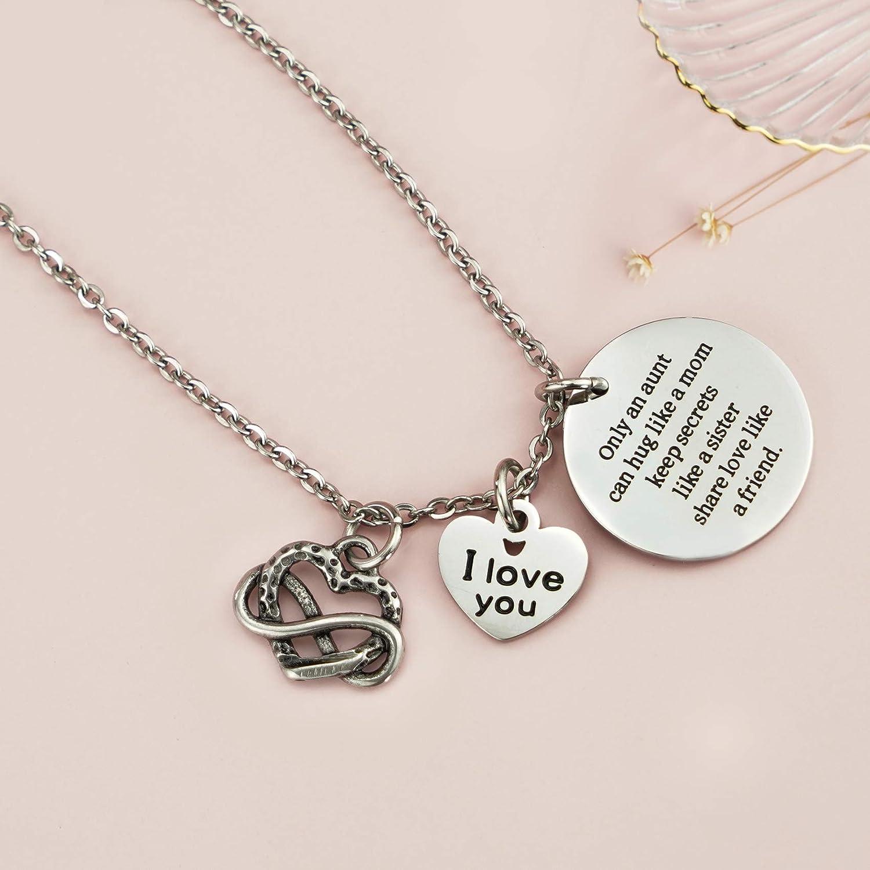 Details about  /Sterling Silver Aunt Heart Charm for Bracelet NECKLACE Pendant Aunt Gift CUTE
