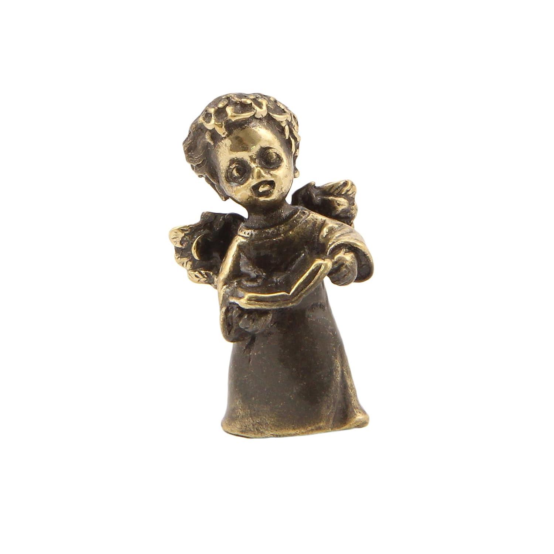 Angel with a book Bronze Statuette Handmade Figurine Souvenir