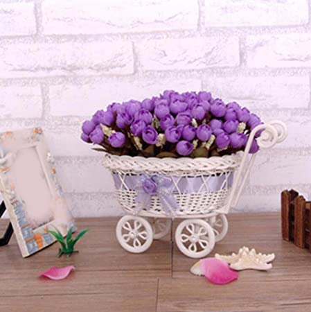 JRFBA The Flower Car Suit Small Rose Decoration Flower Vase Flowers Woven Rattan Iron Flower CarB Amazon.co.uk Kitchen \u0026 Home & JRFBA The Flower Car Suit Small Rose Decoration Flower Vase Flowers ...