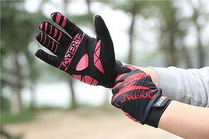 Lerway Guantes Gimnasio Deportivos Ciclismo Gloves Completo Dedos para Bicicleta Bici Moto Unisex Protección las Palmas (Rojo, XL): Amazon.es: Coche y moto