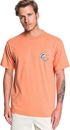Quiksilver - Camiseta de manga corta para hombre - Naranja ...
