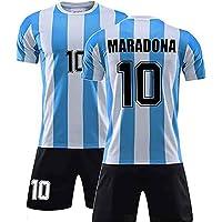 Yagerod Conjunto de Camiseta de fútbol Retro Conmemorativa - Diego Maradona No. 10 Camiseta de fútbol de Argentina Local…