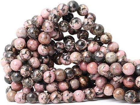 Natural 10mm Rhodochrosite Round Loose Beads Gem Stone 15Inch Long