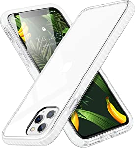 MATEPROX iPhone 11 Pro Case Clear Thin Slim Crystal Transparent Cover Shockproof Bumper Case for iPhone 11 Pro 5.8(White