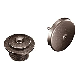 Moen T90331ORB Push-N-Lock Tub and Shower Drain Kit with 1-1/2 Inch Threads, 1.5, Oil-Rubbed Bronze