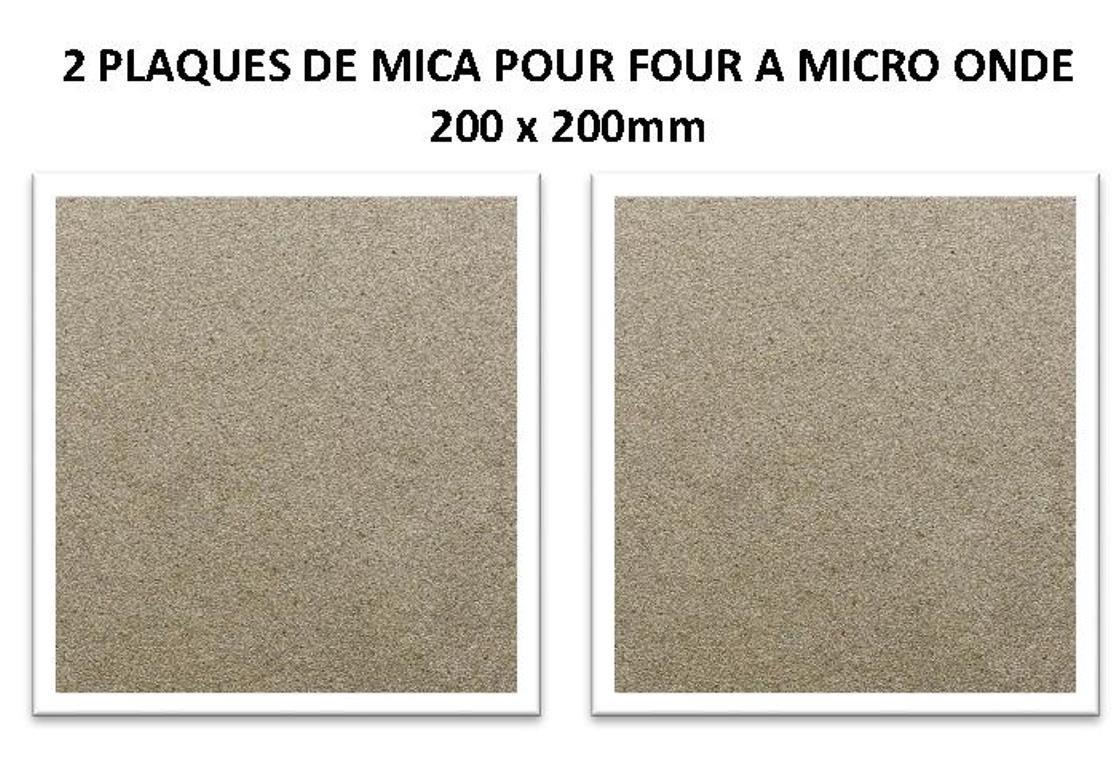 Juego de 2 placas de mica para horno de micro onda - 200 x 200 mm ...