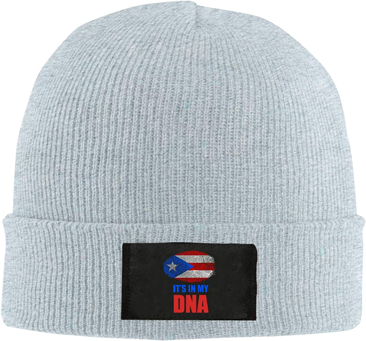 Puerto Rico Flag Its in My DNA Men /& Womens Knitted Hat Stretchy Pure Color Hat