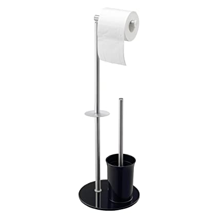 ac143ce1539e Toilet Roll Holder Stand with Toilet Brush | Stainless Steel Tissue Paper  Stand | Free Standing ...