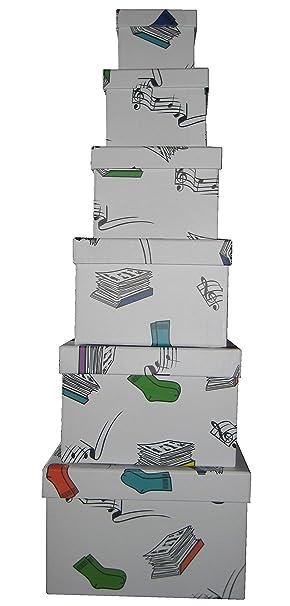Vilys House Cajas cartón Decoradas con Dibujos Set de 6 ...