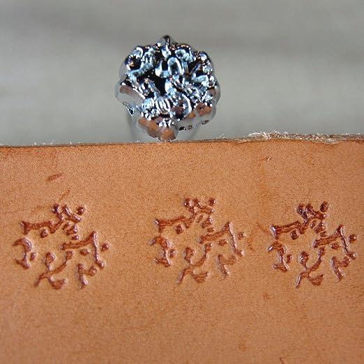 Diameter 12.7 mm Matting Leather Stamp E294-03 1//2