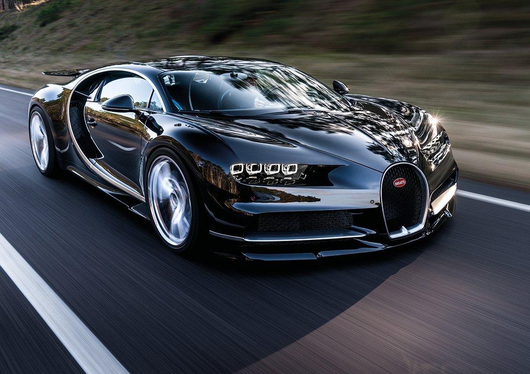 Black Bugatti CHIRON Supercar Poster (A0-1189x841MM) Dynamo Printing Ltd