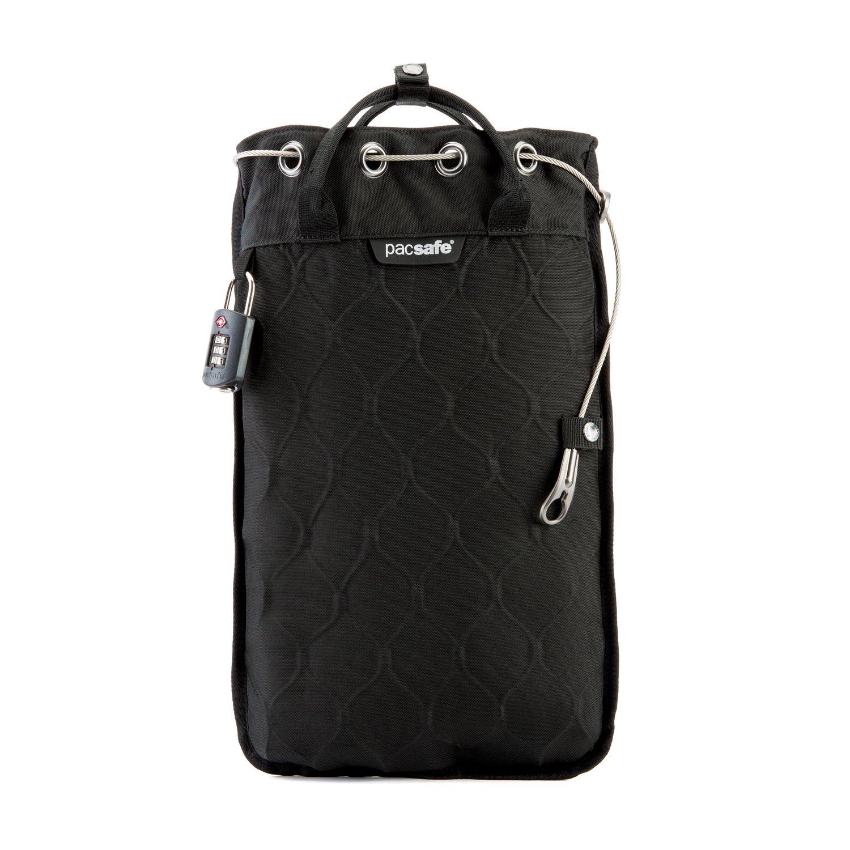 Pacsafe Travelsafe 3L - Mobiler Safe mit TSA-Zahlen Schloß, Trage-Tasche mit Anti-Diebstahl Technologie, 3 Liter Volumen, Blau/Storm Outpac Designs Inc.(Pacsafe) 10481