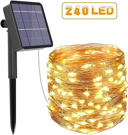 Guirnalda Luces Exterior Solar, Kolpop Luces Exterior, LED Solar ...