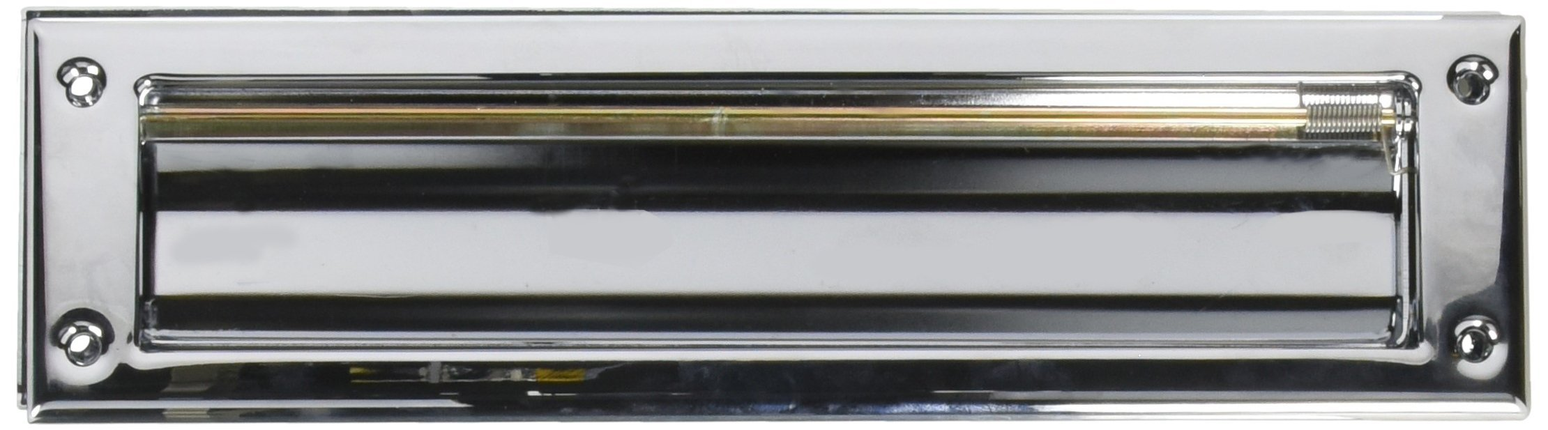 Baldwin 0012260 Letter Box Plate, Bright Chrome