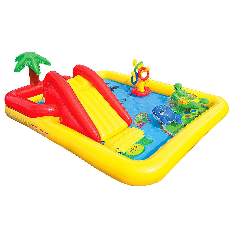 Intex Inflatable Ocean Play Center Kids Backyard Pool (2 Pack) + Air Pump by Intex (Image #3)