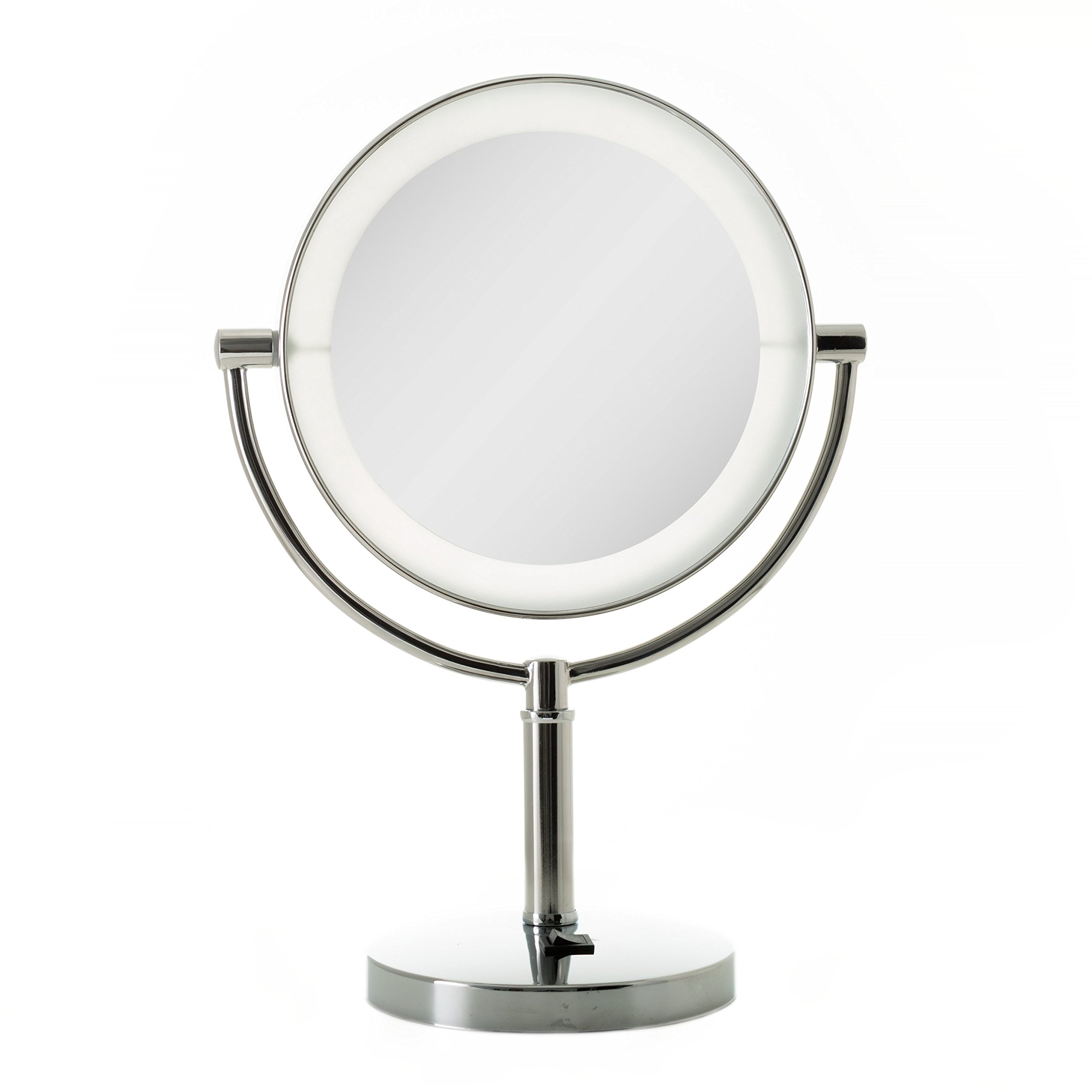 Zadro LED Lighted Vanity Make Up Mirror with 10X magnification in Chrome Finish.