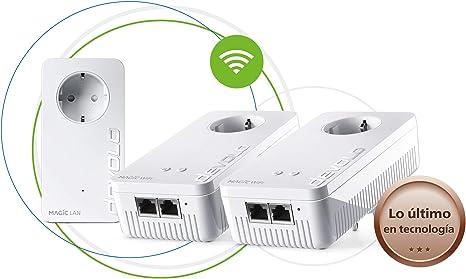 Devolo Magic 1 Wi-Fi - Multiroom Kit con 3 Adaptadores Powerline para una Red Wi-Fi Fiable a Través de Techos y Paredes Mediante los Cables de Corriente, Conexión en Red Mesh Inteligente: