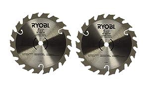 Ryobi 6797329 Pack of 2 Circular Saw Blades - D150 x 1.5MM