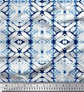 Soimoi Fabric Triangle Geometric Print Fabric by Yard GMD-38H