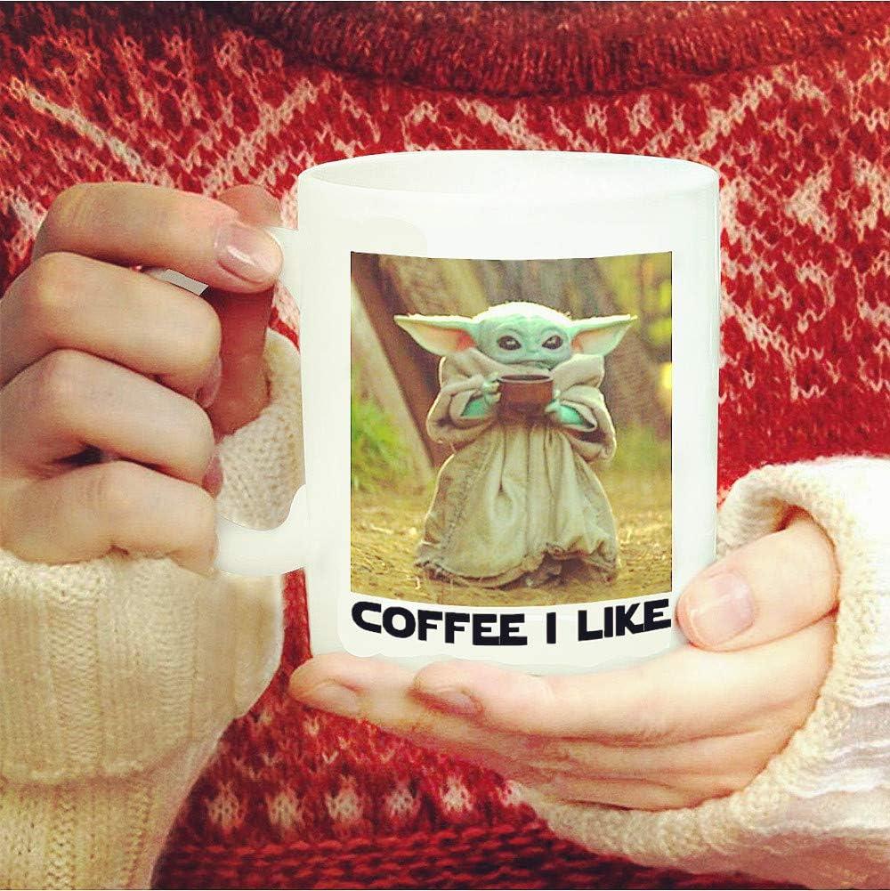 Cute Alien Funny Mugs Coffee I Like 12oz White Ceramic Coffee Mug Perfect Gift for Dad Mom Kids