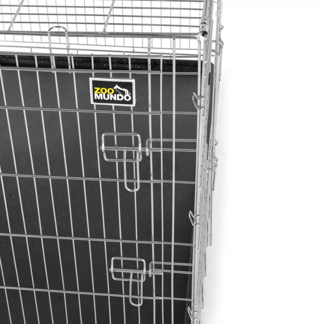 zoomundo Altezza L Gabbia Metallo Pieghevole per Cani Viaggio Cucciolo Gabbia Animali Trasportino Richiudibile 2 porte