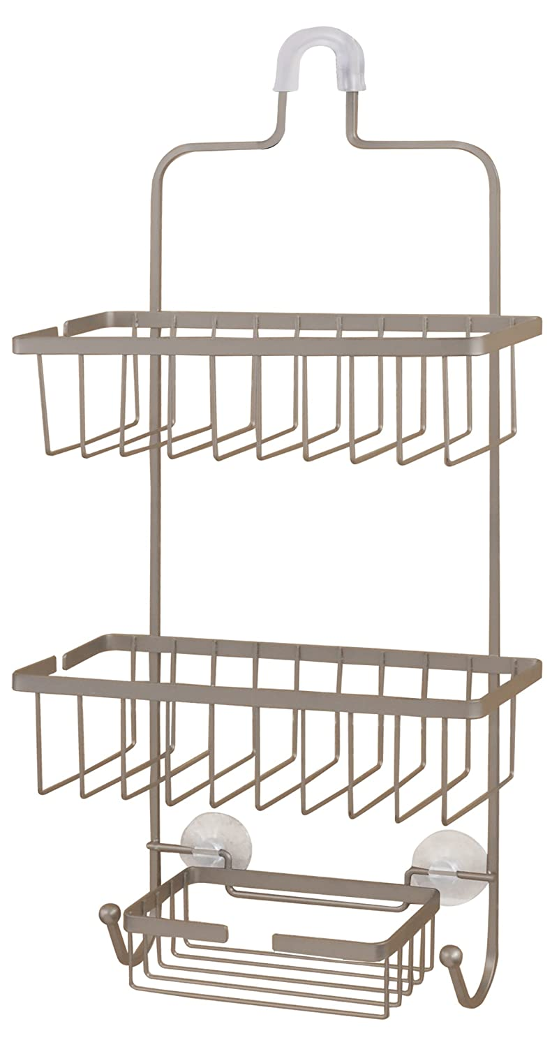 Amazon.com: Deluxe Large Hanging Shower Caddy (Brushed Nickel): Home ...