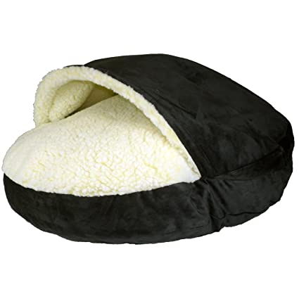 Snoozer Luxury Cozy Cave, Large, Black