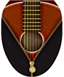Toilet Tattoos, Toilet Seat  Cover Decal, Classic Guitar, Size Elongated