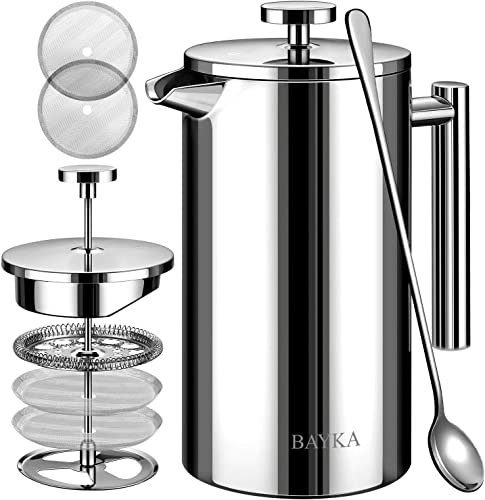 BAYKA 34 Oz French Press Coffee Maker