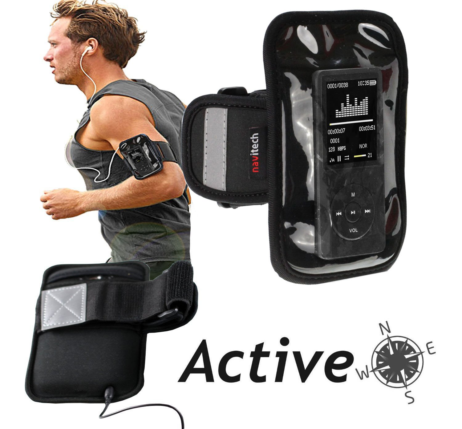 Navitech Black MP3/MP4 Sports Running Armband For the Apple iPod classic 160 GB