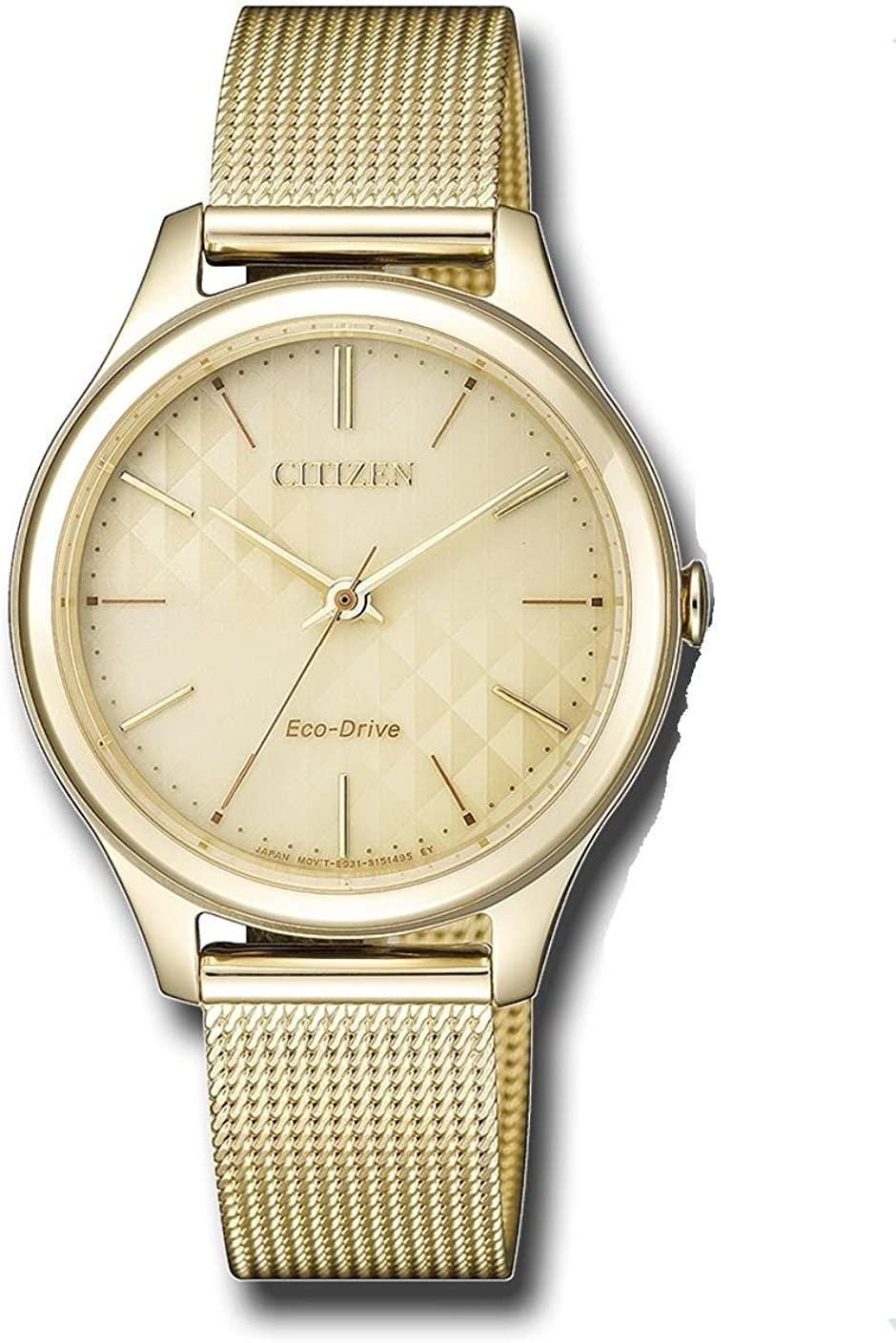 CITIZEN ECO DRIVE LADY EM0502-86P. Reloj de cuarzo con carga solar (sin cambios de pila)