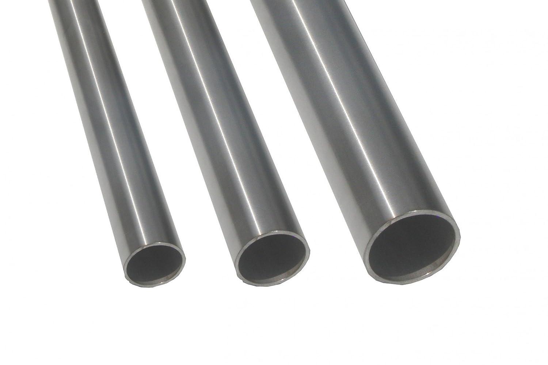 45cm auf Zuschnitt L/änge 450mm K240 Edelstahl Rundrohr V2A /Ø 30x1,5mm