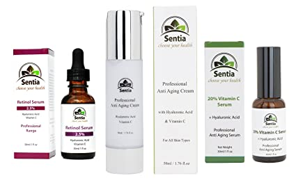 Vitamina C Suero 30 ml + – Crema antiarrugas 50 ml + Retinol 2,5