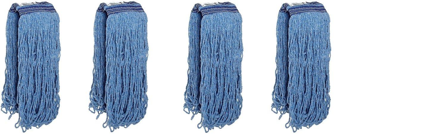 Rubbermaid Commercial Universal Headband Blend Mop, Blue, FG23800BL00 (4)