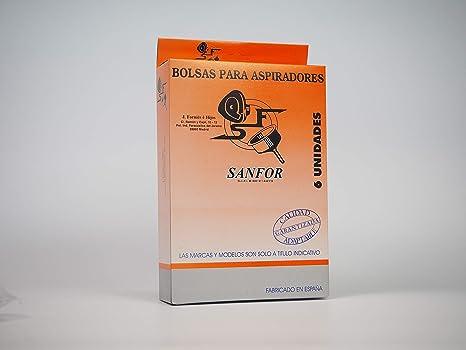 Sanfor 64066 Caja Bolsa aspirador SOLAC R-SO901 6 unidades, Papel ...